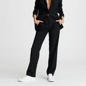 NWT Rag & Bone Ridley Wool Blend Pant - Black - 2